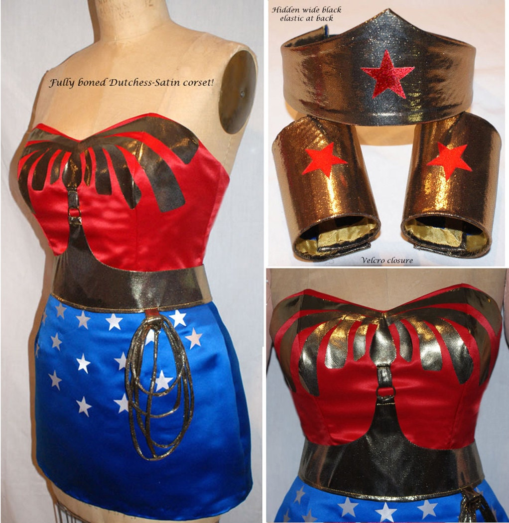 Wonder woman pants costume-3374