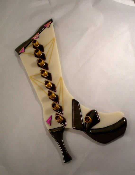 Fancy boot menorah