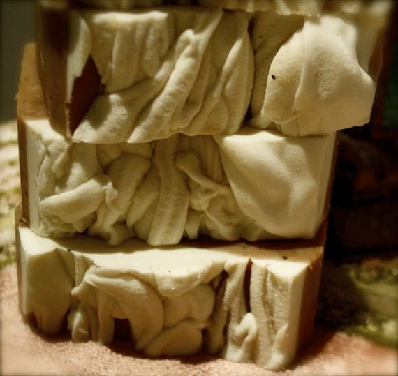 Eco-friendly Dreamy Chunky Chai Soap (1 chunk)