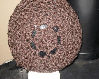 Bella Tam Crochet Hat in Expresso Wool blend
