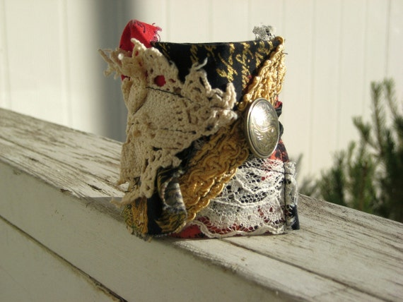 Upcycled Vintage Asian Cuff One of a Kind