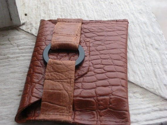 Leather Croc Wallet SALE
