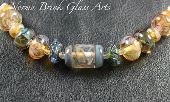 Norma Brink Glass Arts - Boro Beads - Coordinated Set of 13