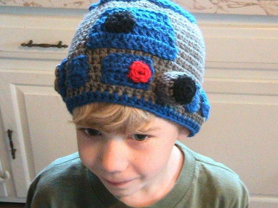 Items similar to Star Wars R2D2 Hat Crochet Pattern on Etsy