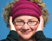 Fuchsia Chunky Ribbed Headband
