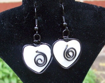 Shell and Swirl Sculpted Earrings