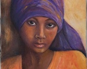 Beautiful girl  figureative print The Gaze 8 x 10 print of my oil painting