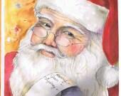 Personalized Santa Print 8 x 10    Free Shipping
