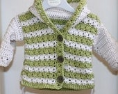 Instant download - Crochet PATTERN (pdf file) - Sorrento Hooded Cardigan (now available for 3-6, 6-9, 9-12 months)