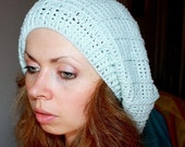 Crochet PATTERN (pdf file) - French Beret with Stripes