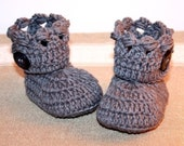 Instan download - Crochet PATTERN baby booties (pdf file) - Holiday Boots
