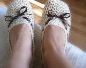 Crochet PATTERN (pdf file) - Vanilla Slippers Adult size