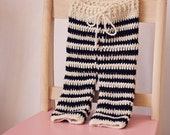 Instant download - Crochet PATTERN (pdf file) - Striped Baby Pants