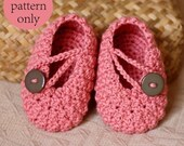 Instant download - Crochet PATTERN (pdf file) - Pretty in Pink Baby Booties