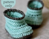 Instant download - Baby Booties Crochet PATTERN (pdf file) - Knit-look Baby Boots
