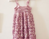 Instant download - Dress Crochet PATTERN (pdf file) - Sarafan Dress (sizes up to 5 years)