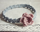 Instand download - Crochet PATTERN (pdf file) - Old Rose Headband (sizes - baby to adult)