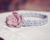 Instant dwonload - Crochet PATTERN (pdf file) - Old Rose Headband (sizes - baby to adult)