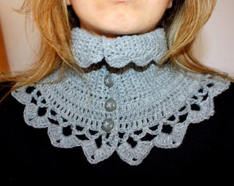 Crochet PATTERN  - Victorian Neck Warmer