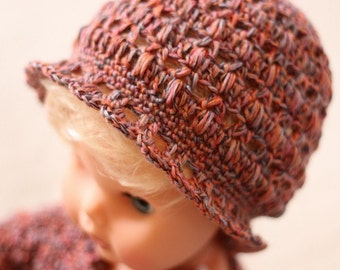 Instant download - Crochet PATTERN for hat (pdf file) - Baby Bobble Beanie