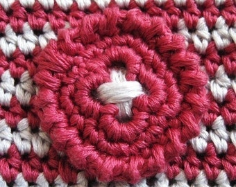 Crochet PATTERN - crocheted button