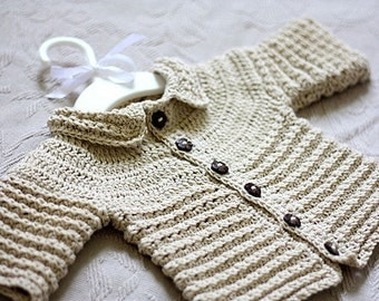 Instant download - Crochet PATTERN  (pdf file) - Nina's Baby Cardigan