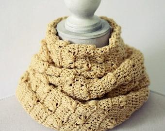 Crochet PATTERN - Petal Infinity Scarf - Cowl