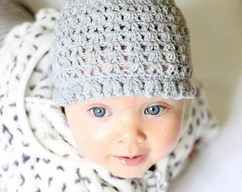 Crochet hat PATTERN - Spring Blossom Hat (0-3, 6-12, 12-24 months)