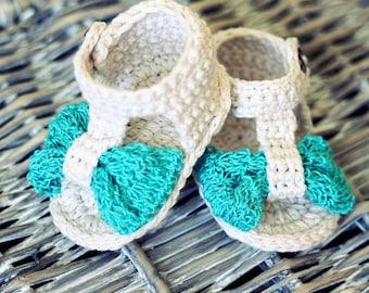 Crochet PATTERN  - Foulard Baby Sandals