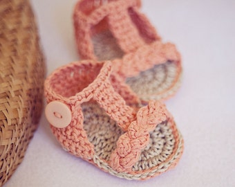 Crochet PATTERN - Braided Gladiator Sandals