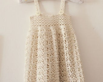 Crochet dress PATTERN - Sarafan Dress (sizes up to 5 years)