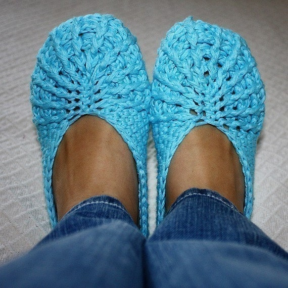 Crochet PATTERN (pdf file) - Spider Slippers Adult size