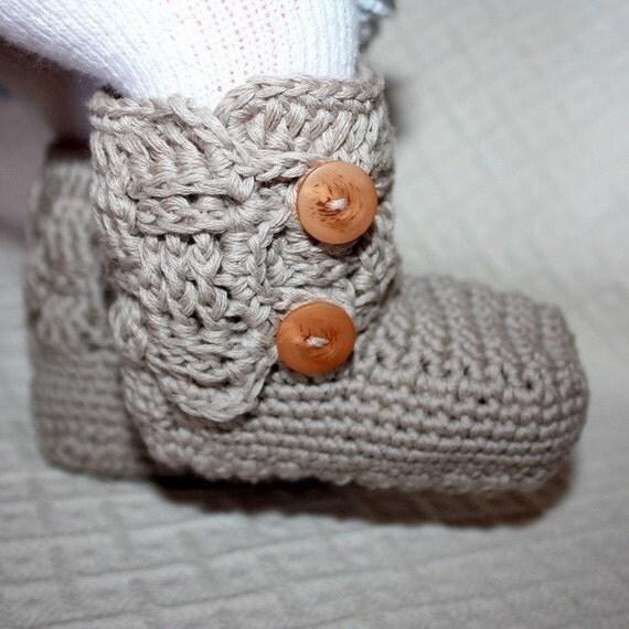 Crochet PATTERN pdf file Baby Boy Boots