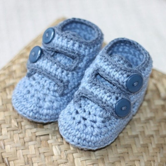 Free Crochet Patterns Baby Booties Mary Janes : Crochet PATTERN pdf file Baby Strap Shoes by monpetitviolon