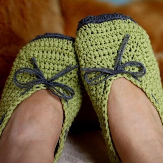 Crochet PATTERN pdf file Ladies Ballet Flats by monpetitviolon