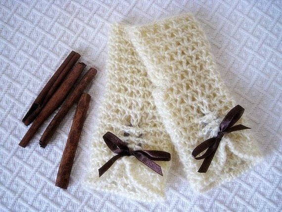Instant download - Crochet PATTERN (pdf file) - Vanilla and Cinnamon fingerless gloves