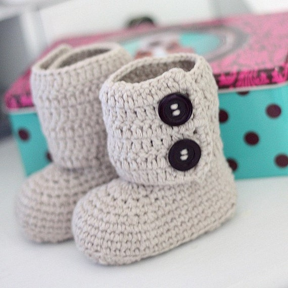 Instant download - Crochet PATTERN for booties (pdf file) - Toddler Ankle Boots