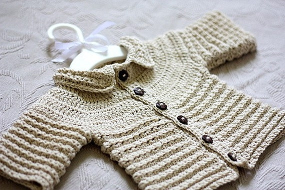 Crochet PATTERN Ninas Baby Cardigan by monpetitviolon on Etsy