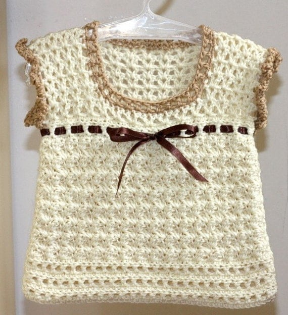 Instant download - Crochet PATTERN (pdf file) - Milky Baby Vest