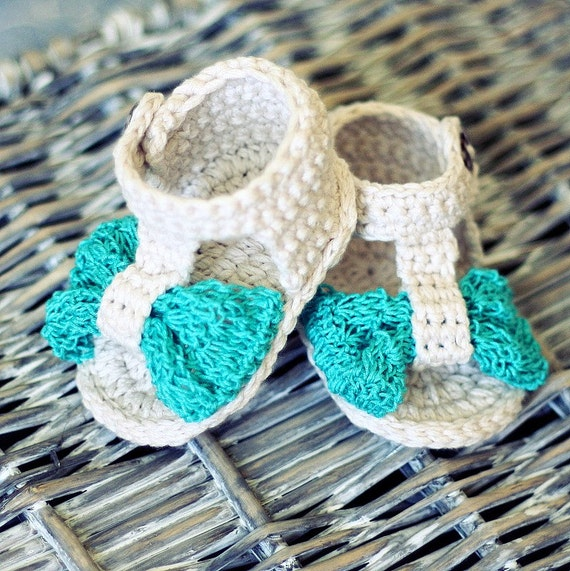 Crochet PATTERN for baby booties  - Foulard Baby Sandals
