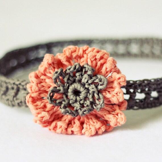 Instant download - Crochet PATTERN (pdf file) - Cornflower Headband (sizes - baby to adult)
