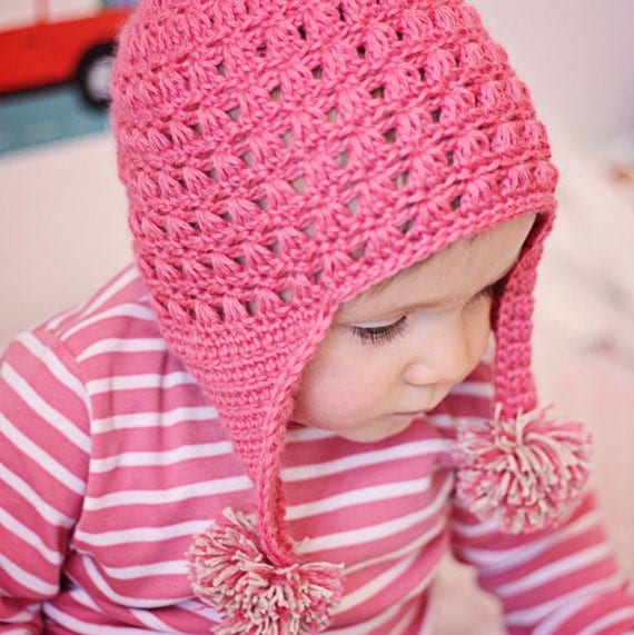 Crochet PATTERN - Miracle Earflap Hat (baby, toddler, child sizes)