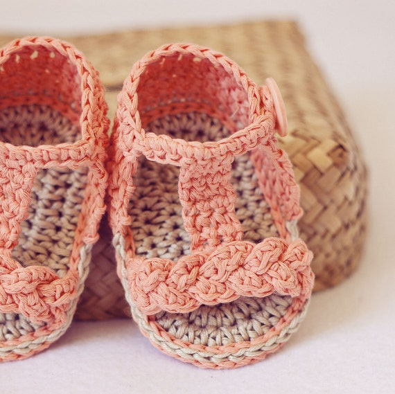 Crochet PATTERN - Braided Gladiator Sandals from ...