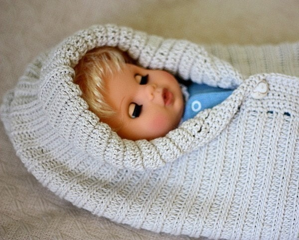 Free Baby Bunting Knitting Patterns : Free Pattern For Baby Bunting Bag images
