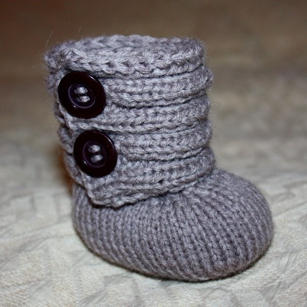 Baby Bootie Knitting Pattern : Instant download Baby Booties Knitting PATTERN by monpetitviolon