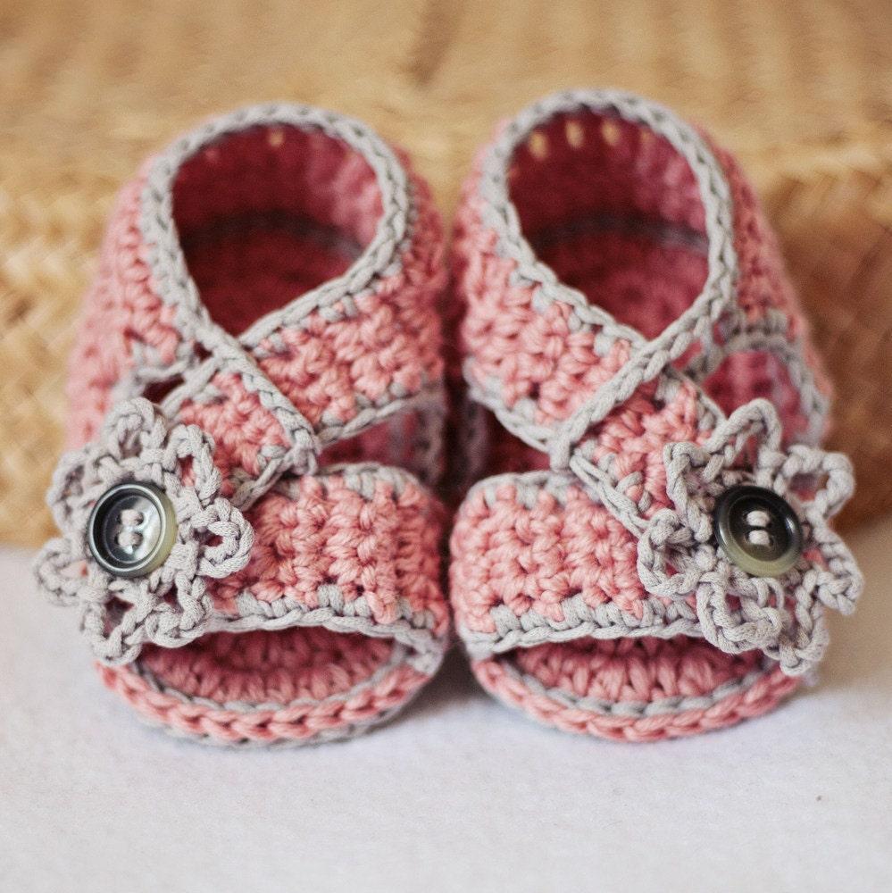 Crochet PATTERN Diagonal Strap Sandals