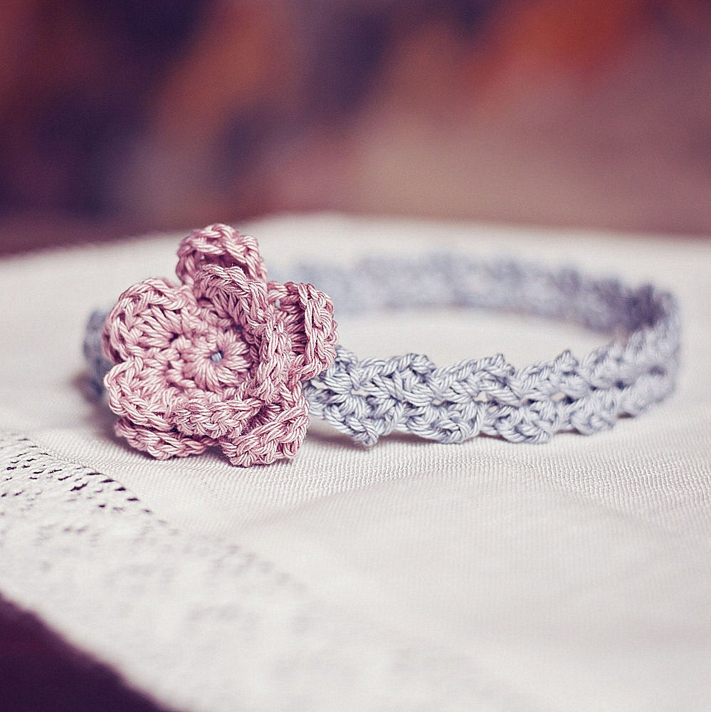 Crochet pattern old rose headband sizes baby to adult zoom bankloansurffo Image collections