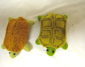 Sewn Wool Felt Turtle- ships for FREE in the US