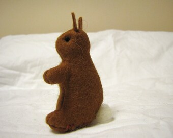 Bunny upright Sewn Wool Felt- ships for FREE in the US