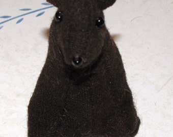 Bear Cub sitting Sewn Wool- ships for FREE in the US
